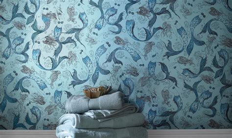 novelty wallpaper colourful living space trendy design