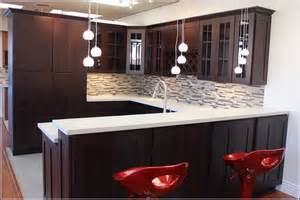 Ikea Curtain Sizes by Espresso Kitchen Cabinets White Countertop Home Design Ideas