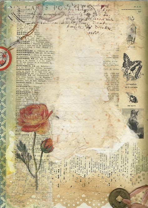 ink tissues paint vintage french dictionary page