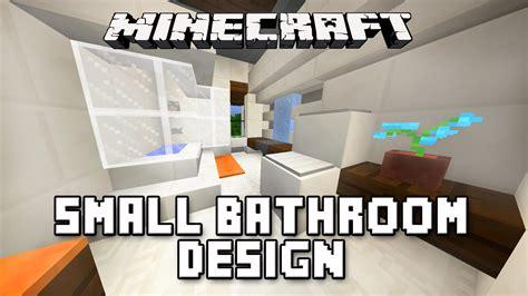 big ideas for small bathrooms minecraft tutorial how to build a modern house ep 11 small bathroom design ideas