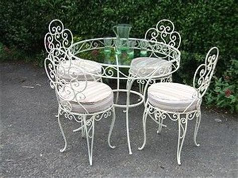 vintage wrought iron conservatory patio cafe
