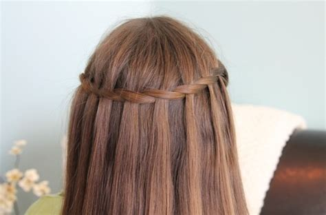 waterfall braid hairstyles weekly