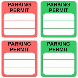 4 Best Images Of Free Printable Parking Permit Template