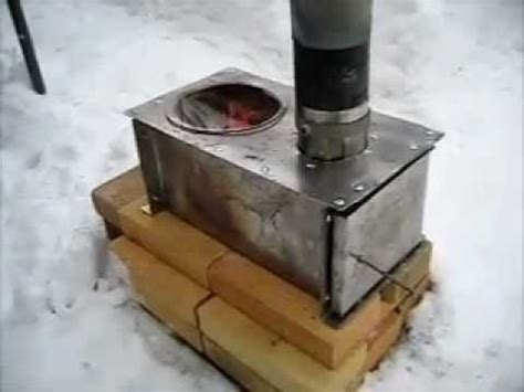 rocket stove ideas  horizontal cook stovewmv youtube