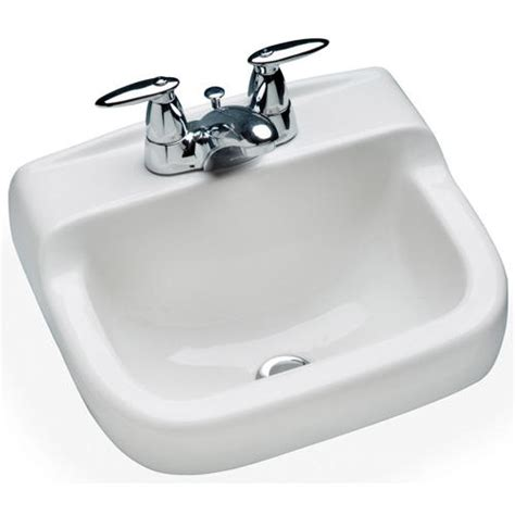 bathroom sink menards mansfield spruce cove wall mount bathroom sink 4 quot center