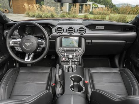 mustang interior images spec 2018 ford mustang unveiled more power for v8