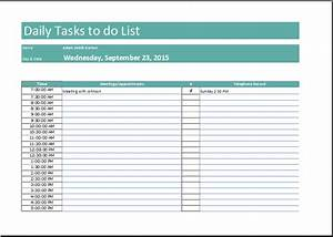 daily task list template free to do list With excel template for daily tasks
