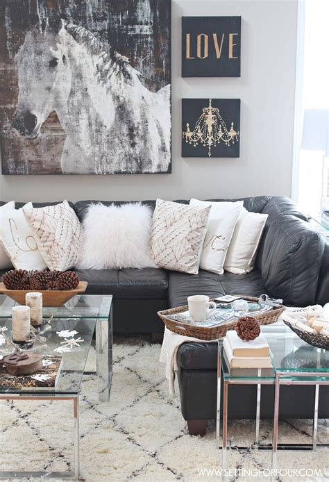 Rustic Glam Living Room + New Rug  Glam Living Room