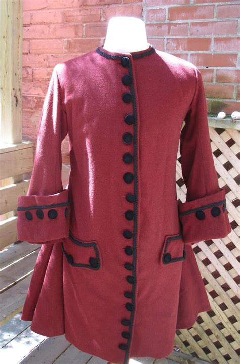justacorps early  century reproduction mens coat