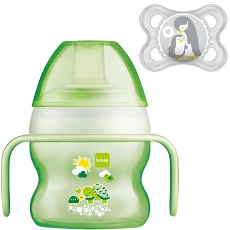 mam starter cup 150ml with handles and soother ebay