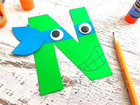 ninja letter  craft template step  step