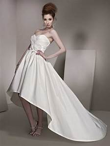 front short and long back feather wedding dress styles With short long wedding dresses