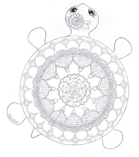 mandala turtle coloring page tortue dessin tortue