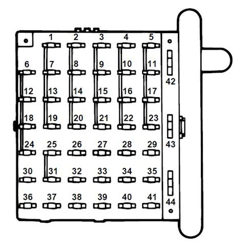 1997 Econoline Fuse Diagram by Ford E Series E 150 E150 E 150 1997 Fuse Box Diagram