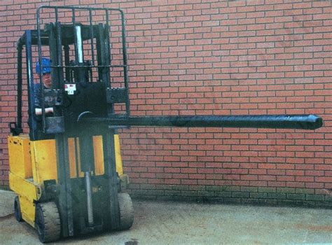 Fork Lift Truck Carriage Mounted Carpet Boom Attachment