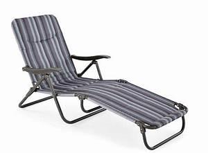 Chaise Longue Pliante : chaise longue pliante rembourr e de mainstays gris ~ Melissatoandfro.com Idées de Décoration