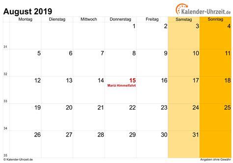 Kalender August 2015 Ausdrucken Kostenlos gallery - zalaces ...