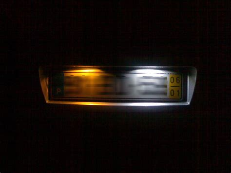 led rear number plate bulbs lights replace spare part