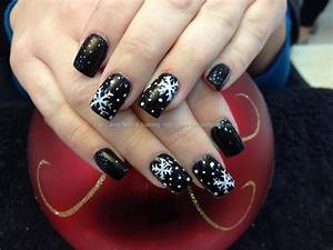 Eye Candy Nails & Training - Acrylic nails with black gel ...