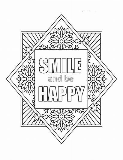 Happy Smile Coloring Quote Play