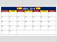 April 2018 Calendars In Spanish Language CalendarBuzz