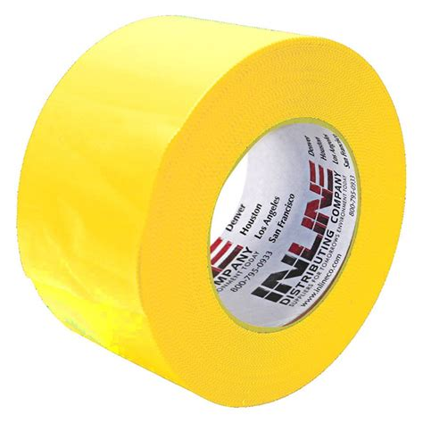 inline mm yellow   mil poly tape case