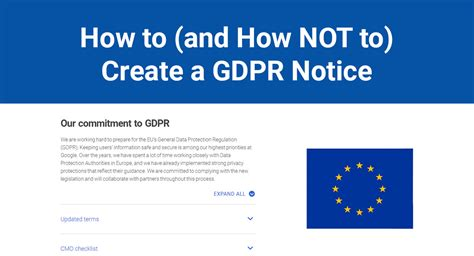 How To (and How Not To) Create A Gdpr Notice