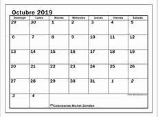 Calendarios octubre 2019 DS Michel Zbinden ES