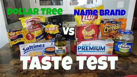 Dollar Tree Vs Name Brand Snacks  Taste Test  Youtube