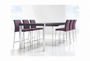 table a manger haute extensible With salle a manger haute