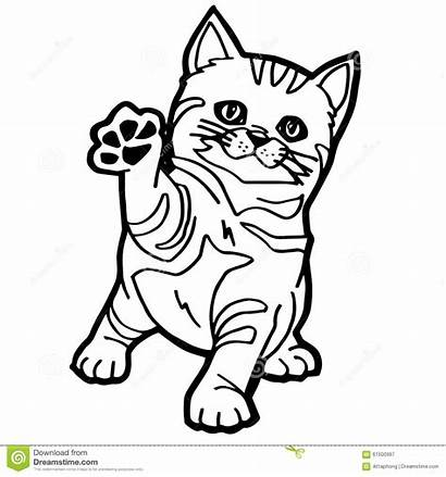 Coloring Cat Cartoon Coloration Isolated Kid Chat