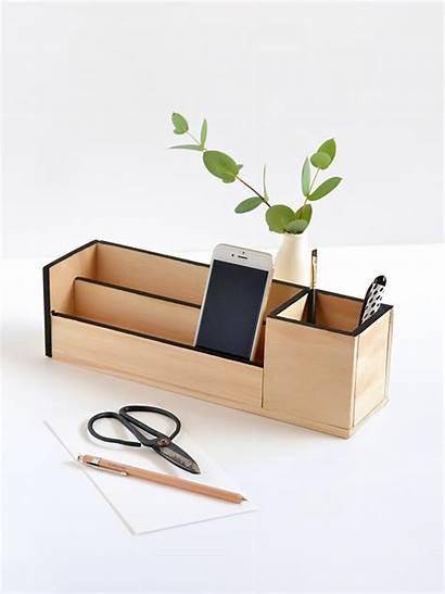 Desk Diy Office Wood Organiser Storage Organizer