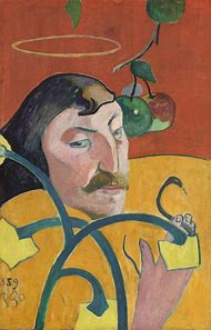 Paul Gauguin Self Portrait with Halo