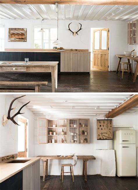 rustic country kitchen a beautiful modern rustic country kitchen the style files Modern