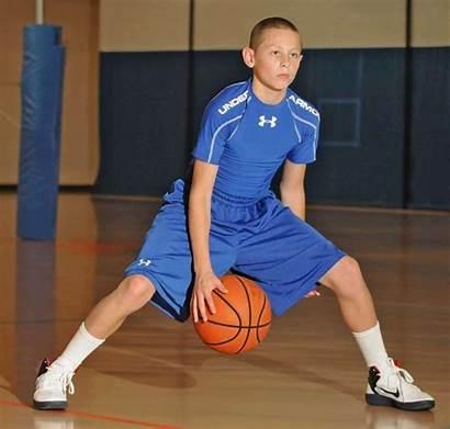 Basketball Player Middle Ball Kid Play Legs