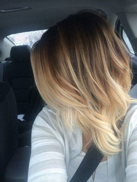 creamy blonde balayage  maintenance hair color ideas