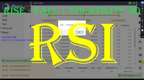 Signals of indicators are not repaint. Rise-Fall Binary Bot with RSI Volatility 50 - YouTube