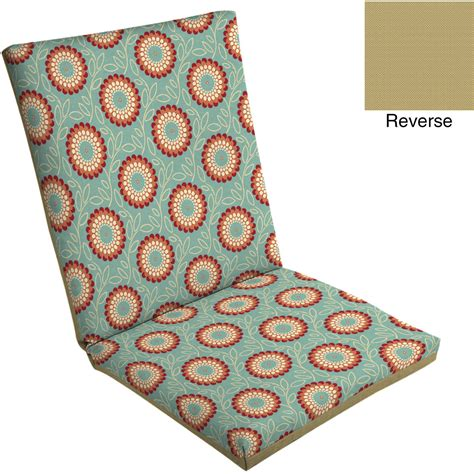 mainstays outdoor dining chair pad tropical walmart