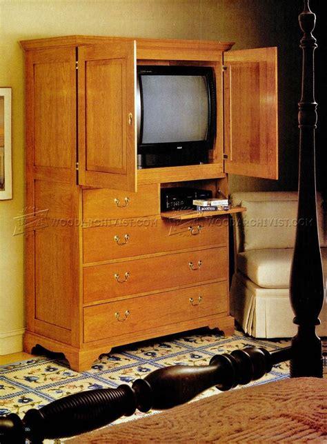 tv cabinet plans woodarchivist
