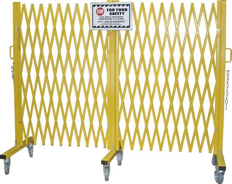 yellow folding barrier gate accordion safety barriers max opening    high