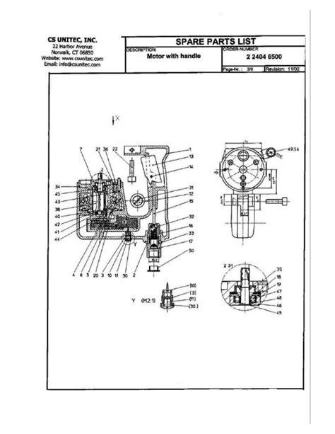 CS Unitec Pneumatic Rotary Hammer Drill Schematic: 2 2404 0030