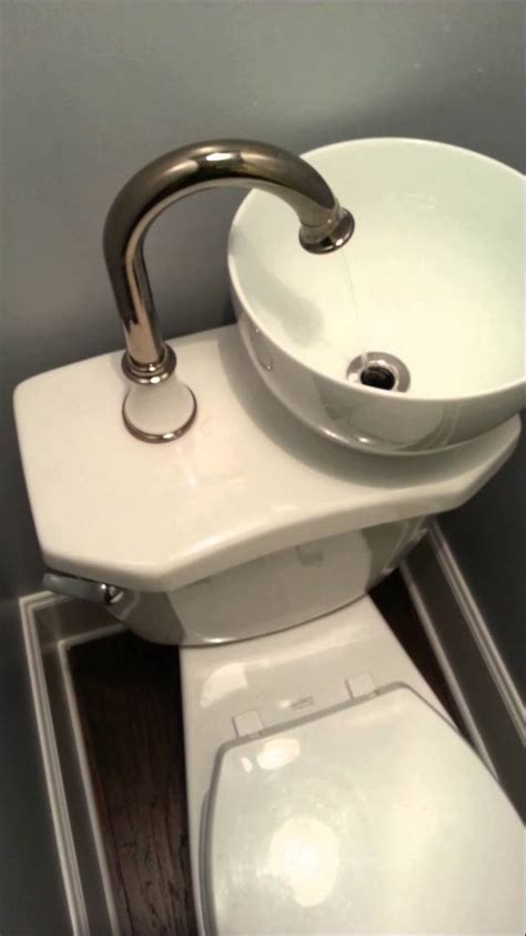 water faucet stainless steel space water saving sink toilet combo
