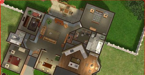 sims  lot downloads cute tan house