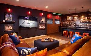 Inspiring Sports Man Cave Contemporary - Ideas house