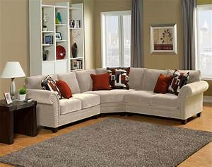 benchley furniture barcelona sectional set in st barcelona With barcelona sectional sofa ottoman in beige