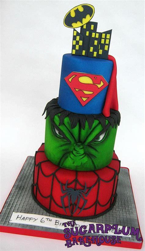 tier mini  tier marvel dc superhero birthday cake