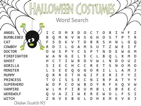 free halloween wordsearch