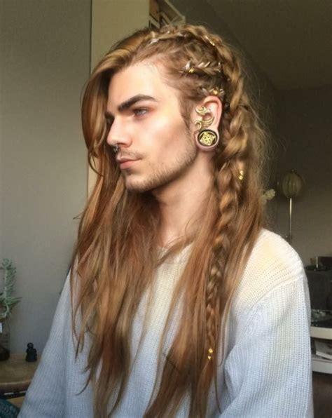 male model long hair elf elvin fantasy inspiration