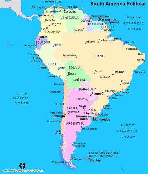 south america political map  twelvetotemsblog