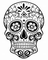 Coloring Printable Skull Sugar Dead Pdf Pages Candy Dia Para Calaveras Mexicanas sketch template